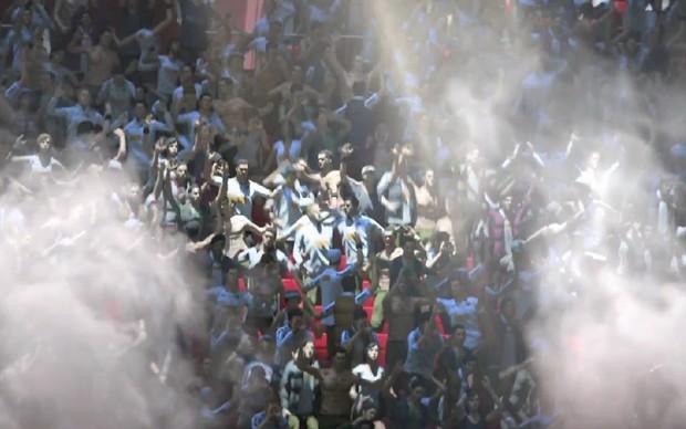 Torcida marca presença em PES 2014 (Foto: Divulgação) (Foto: Torcida marca presença em PES 2014 (Foto: Divulgação))