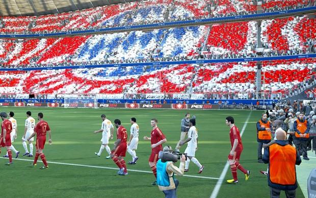 Bayern de Munique entra em campo em PES 2014 (Foto: Divulgação) (Foto: Bayern de Munique entra em campo em PES 2014 (Foto: Divulgação))