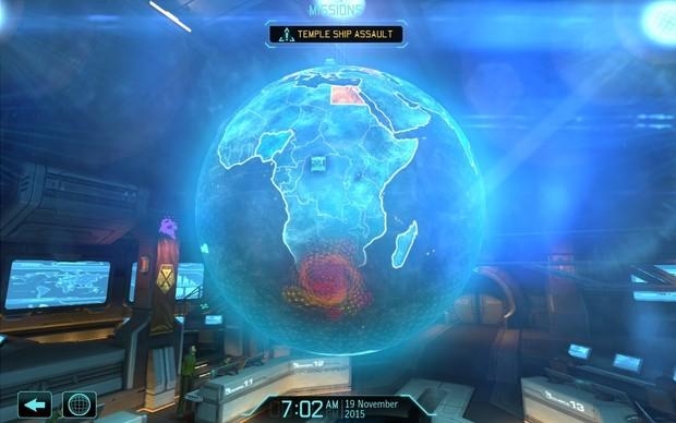 A interface da base em XCOM: Enemy Unknown exibe todas as instalações de maneira interativa (Foto: Reprodução/ Daniel Ribeiro) (Foto: A interface da base em XCOM: Enemy Unknown exibe todas as instalações de maneira interativa (Foto: Reprodução/ Daniel Ribeiro))