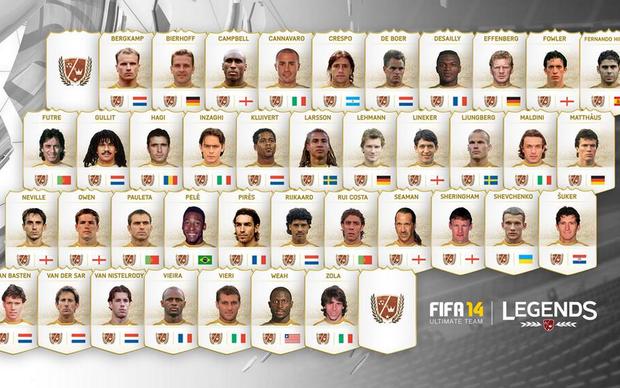 Fifa 14 Legends terá Pelé e outras lendas do futebol (Foto: Divulgação)