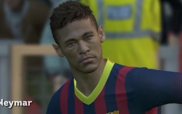 Neymar em PES 2014 (Foto: Reprodução)