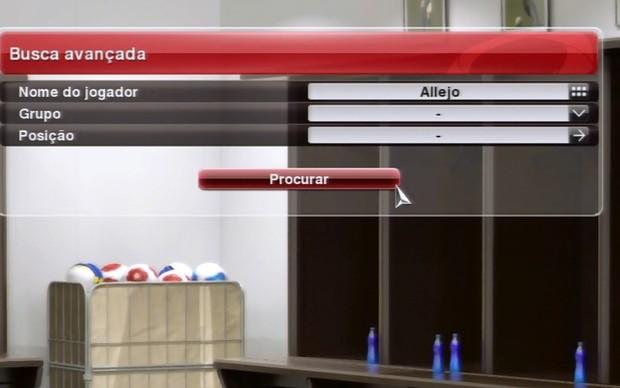 Digite Allejo no campo de busca para encontrar o craque (Foto: Reprodução / TechTudo)