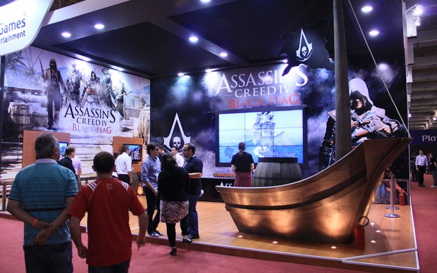 O estande de Assassin's Creed 4: Black Flag na BGS 2013 (Foto: Renato Bazan / TechTudo)