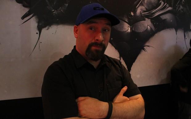 Eric Holmes, diretor da WB Montreal, falou com o TechTudo sobre o game Batman: Arkham Origins na BGS 2013 (Foto: Leonardo Avila/ TechTudo)
