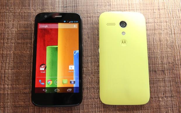 Moto G: nova aposta da Motorola para o mercado de smartphones de baixo custo (Foto: Allan Melo/TechTudo)