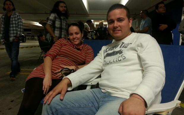 Isaias Thomas chegou cedo para garantir o seu PlayStation 4 (Foto: Thiago Barros / TechTudo)