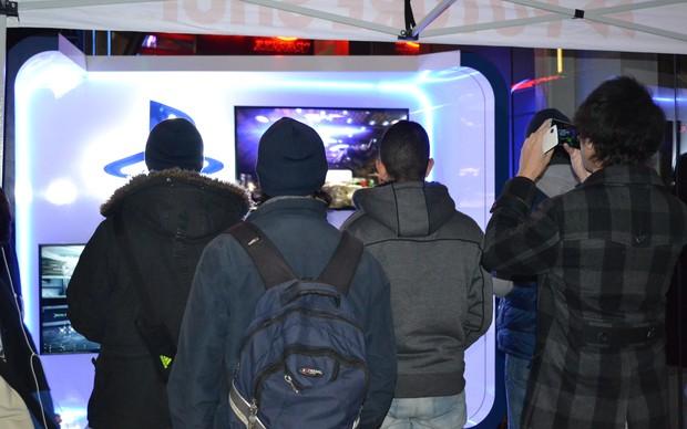O público ficou impressionado com a qualidade gráfica dos games (Foto: Monique Mansur / TechTudo)