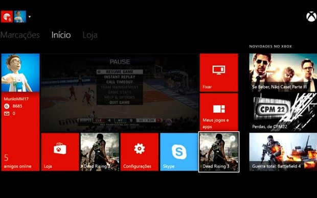 Dash do Xbox One (Foto: Reprodução / Murilo Molina)