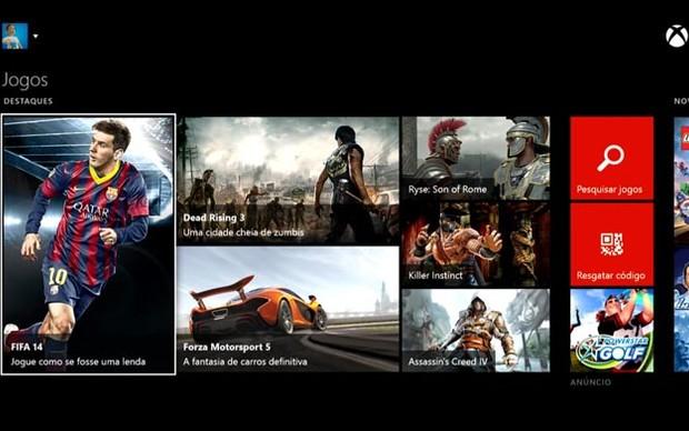 Xbox Live também disponibiliza games para aquisição online (Foto: Reprodução / TechTudo)