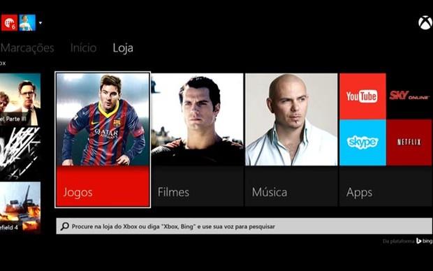 Xbox Live conta com diversos aplicativos (Foto: Reprodução / Murilo Molina)