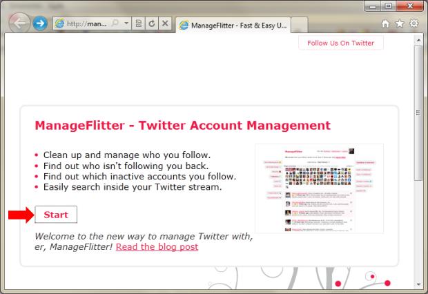 Utilizando o ManageFlitter