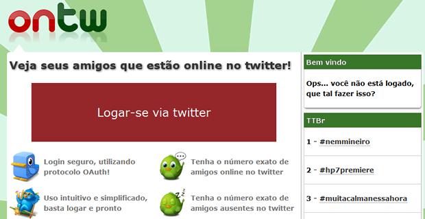 Página do Twitter