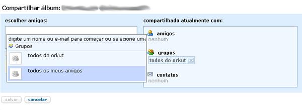 Privacidade no orkut