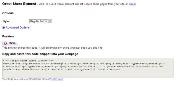 Share do orkut