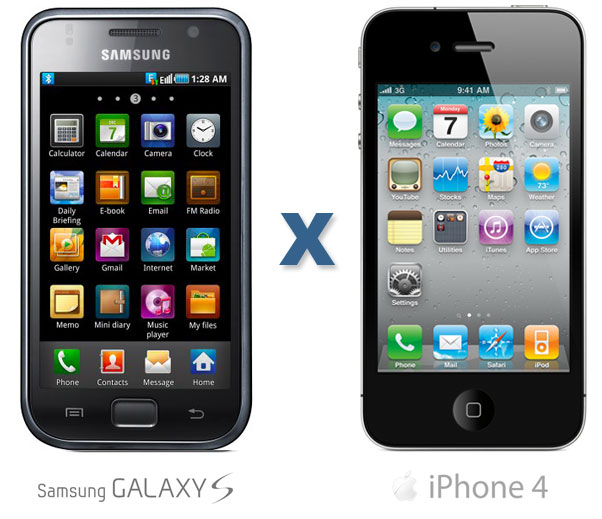 iPhone 4 x Galaxy S