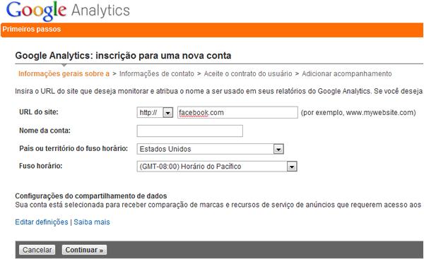 Google Analytics no Facebook