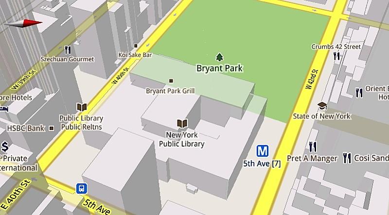 Nova versão do Google Maps para celulares possui o recurso de visualização 3D (Foto: Divulgação)