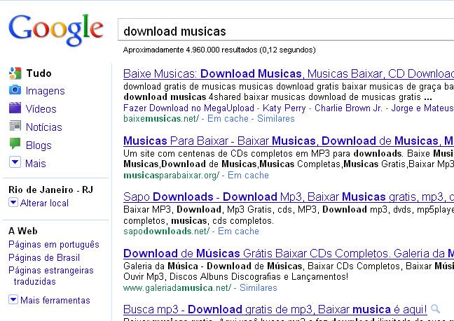 Google e outros buscadores são acusados de serem os grandes fomentadores da pirataria