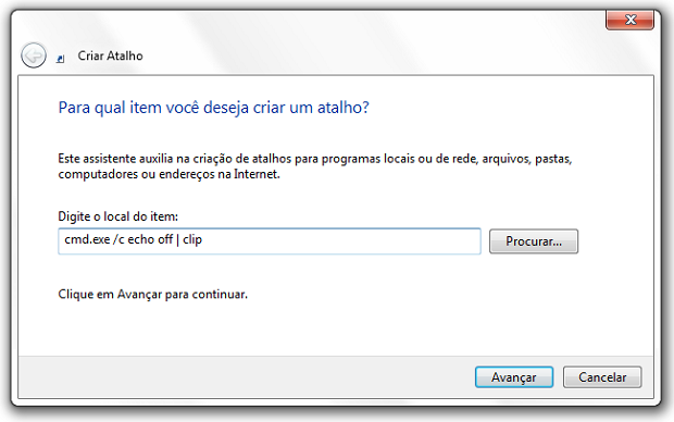 Área de transferência do Windows
