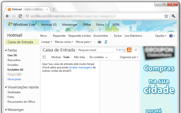 Remover banner do Hotmail