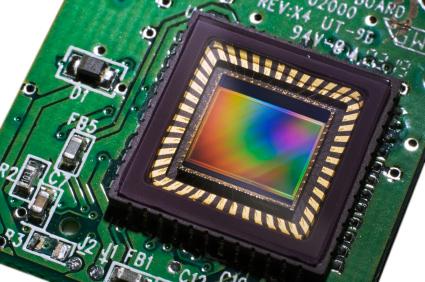 Isto é um sensor CCD de câmera digital