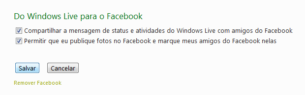 Facebook integrado com MSN 2011
