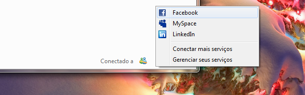Facebook no MSN 2011