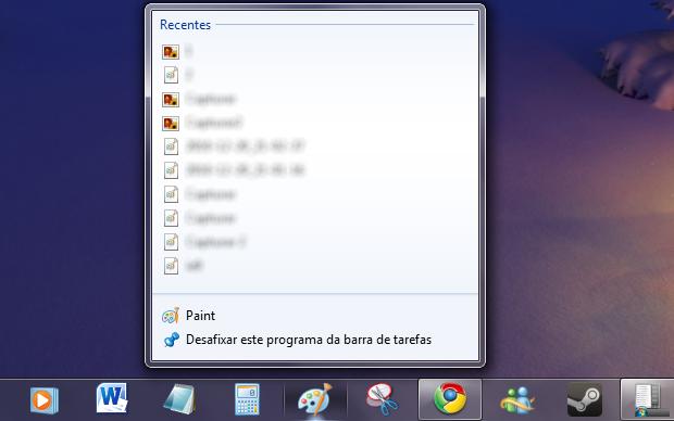 Lista de atalhos no Windows 7