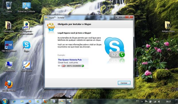 Instalação do Skype