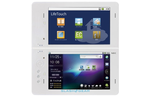 NEC LifeTouch dual-touchscreen