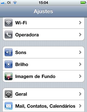 Ajustes do iPhone (Foto: Reprodução/Edivaldo Brito)