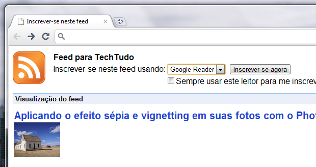 how to add rss feed to chrome