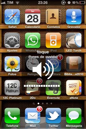 Volume no iPhone (Foto: Reprodução/José Antonio Oliveira)