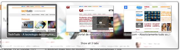 Efeito no Firefox (Foto: Reprodução/Helito Bijora)