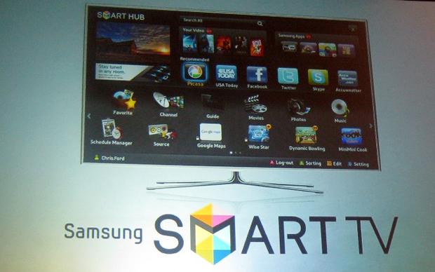 Samsung apresenta a Smart TV durante a CES 2011 (Foto: Engadget)