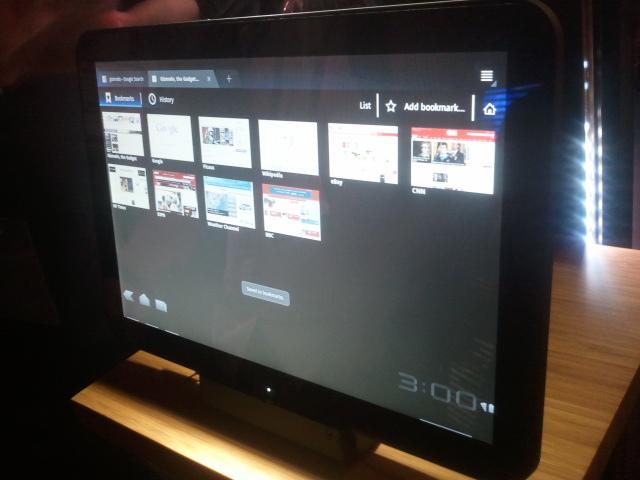 Apresentação do Motorola Xoom na CES 2011, em Las Vegas (Foto: Nick Ellis)