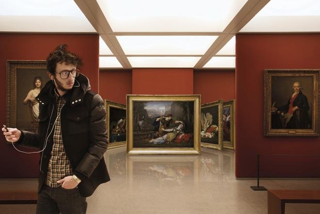 'Seleção' de obras de arte como no iPhone (Foto: Leo Caillard)