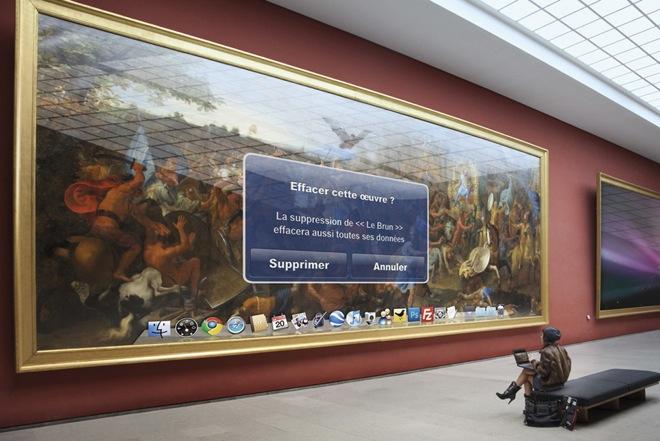 Obras de arte como papéis de parede ou papéis de parede como obras de arte? (Foto: Leo Caillard)