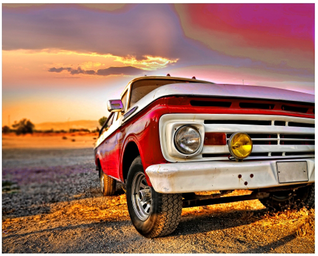 Carro já na cor vermelha (Foto: Reprodução/André Sugai)