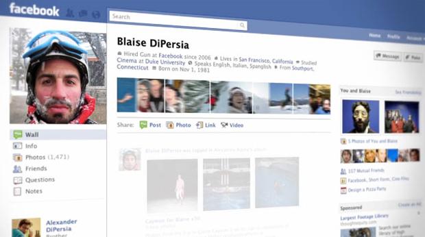 O novo visual do Facebook (Foto: Divulgação)