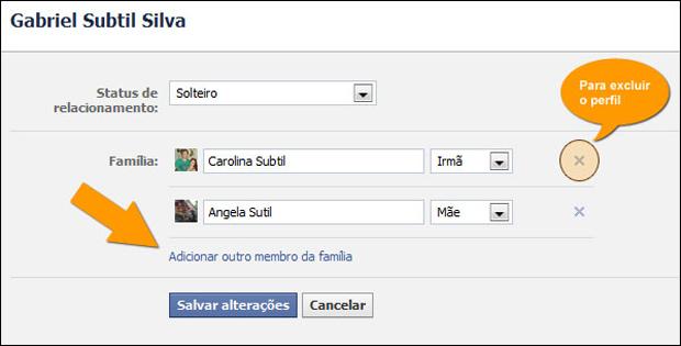 Relacionamento no Facebook (Foto: Reprodução/Gabriel Subtil)