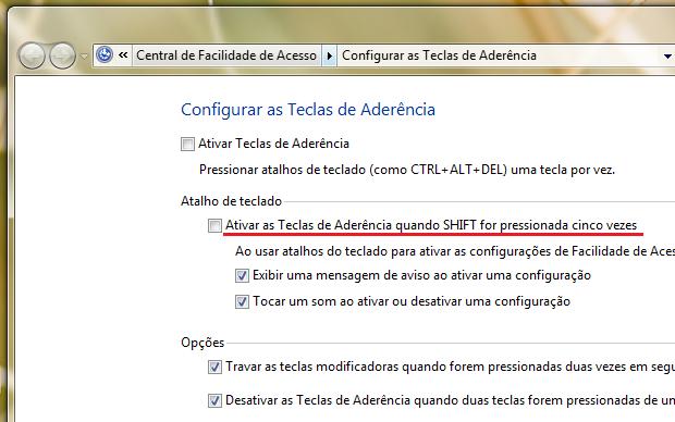 Configurar teclas no Windows (Foto: Reprodução/Helito Bijora)