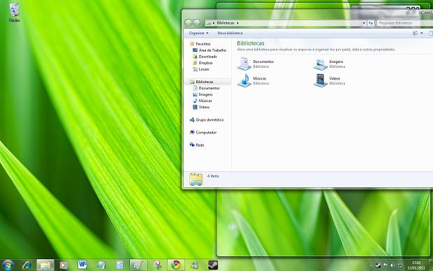 Aero Snap no Windows 7 (Foto: Reprodução/Helito Bijora)
