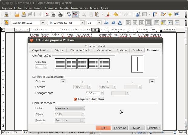 OpenOffice Writer (Foto: Reprodução/Helito Bijora)