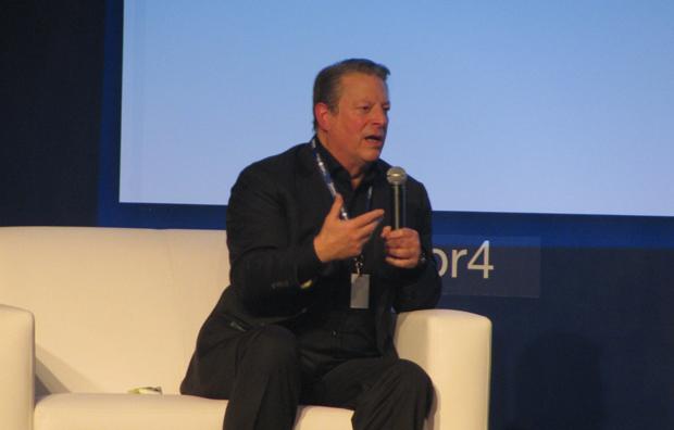 """""""Al Gore defendeu o uso da internet para fomentar a democracia"""" (Foto: Pedro Cardoso)"""