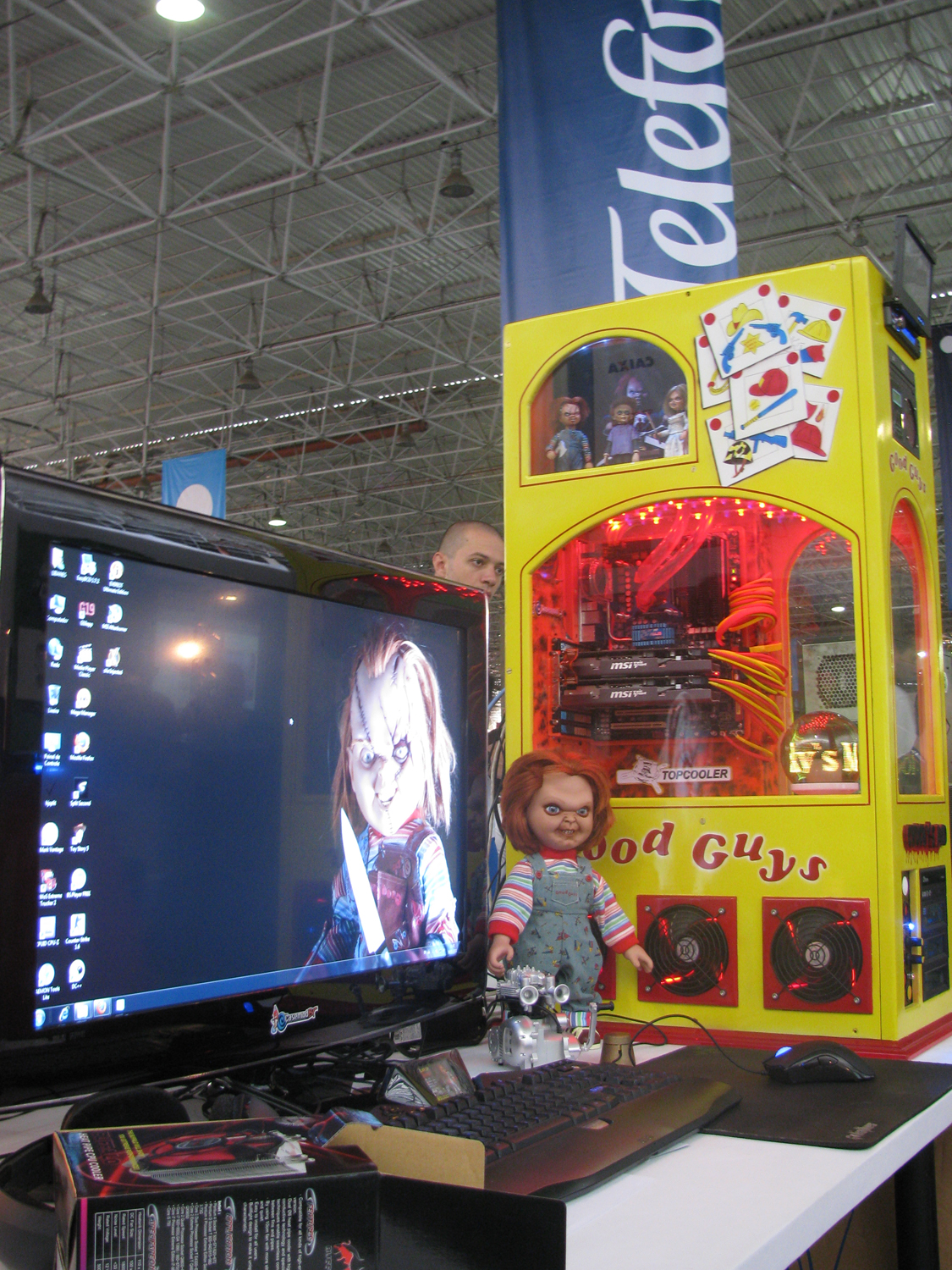 Casemod do Brinquedo Assassino na Campus Party 2011 (Foto: Pedro Cardoso / TechTudo)