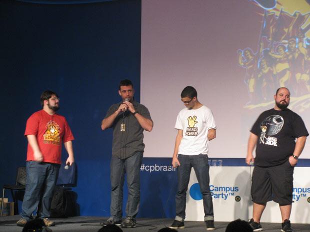 Alexandre Ottoni, Eduardo Spohr, Marco Gomes e Deive Pazos (Foto: Pedro Cardoso)