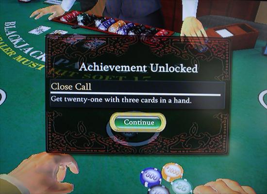 Conquista em um jogo de Blackjack (Foto: Divulgação)