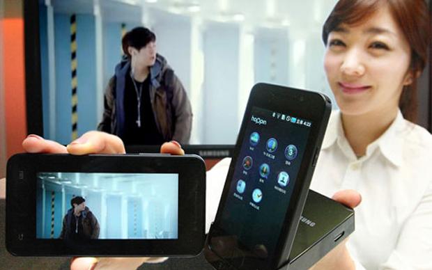 Parece um iPhone 4, mas é o Galaxy S Hoppin (Foto: Divulgação)