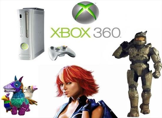 Xbox 360 e seus mascotes (Foto: Divulgação)